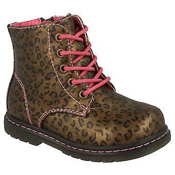 Vor Ort auf Baby Mädchen Schnürschuh Leopard Print Stiefeletten