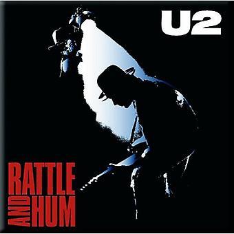 U2 frigo Magnet hochet & Hum nouvelle officiel 76 x 76 mm