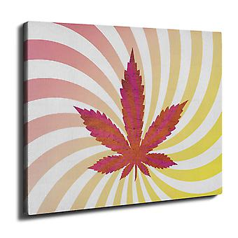 Weed 42 Pot Rasta Wall Art Canvas 40cm x 30cm | Wellcoda