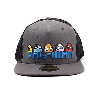 Pac-Man Characters Embroidered Snapback Cap Grey (SB150206PAC)