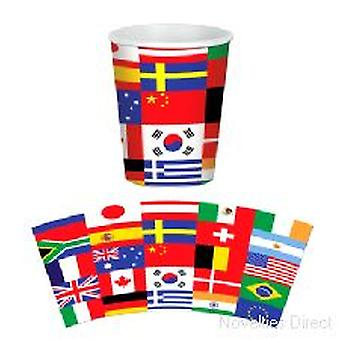 Internationale vlag Cups (8 kopjes per pak)