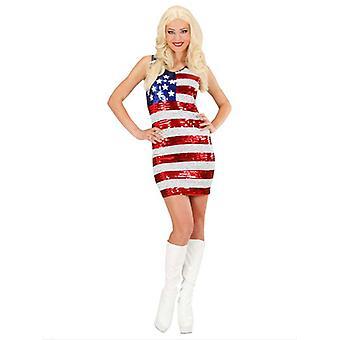 Paljett klänning Miss Usa