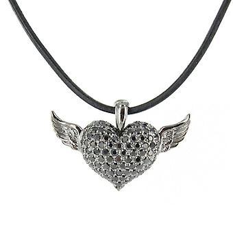 Heartbreaker by Drachenfels Ladies silver pendant necklace LD AT 53 BL-B