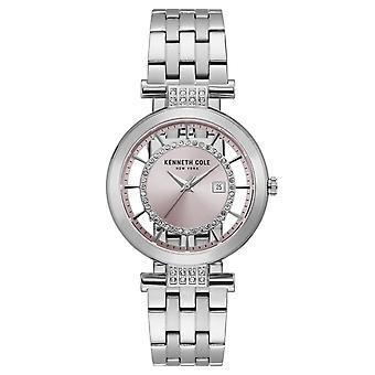 Pulso relógio quartzo analógico inox Kenneth Cole New York feminino KC15005011