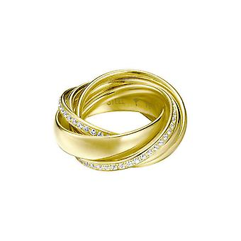 Abrazo de Joop mujer anillo acero inoxidable oro Circonita JPRG10631B