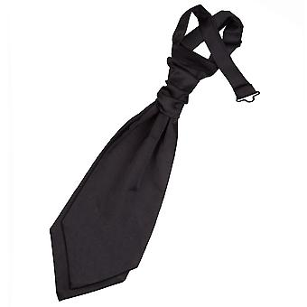 Black Plain Satin Hochzeit bereits gebundene Krawatte für jungen