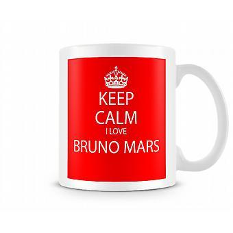 Hålla lugna jag älskar Bruno Mars tryckt mugg