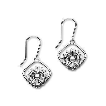 Sterling Silver perinteinen huhtikuu Birth Flower Daisy muotoinen design korva korut