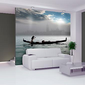 Fotobehang - Gondeltochtje in Venetië