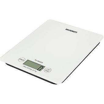 VOLTCRAFT TS-5000/1 Letter scales Weight range 5 kg Readability 1 g battery-powered White