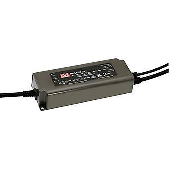 Keskimääräinen no PWM-90-12 LED-muuntaja Vakiojännite 90 W 0 - 7,5 A 12 V DC himmennettävä, PFC-piiri, ylijännitesuoja
