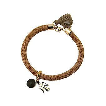 Gemshine Damen Armband Vergoldet Edelstein Rauchquarz Engel Braun