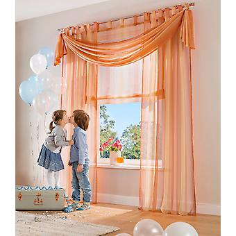 My Home Set (2) Gardine »Rino« rot transparenter Voile H/B 225x140 cm