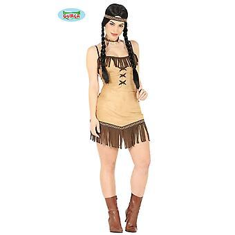 Traje de disfraz India Squaw para damas occidental indio