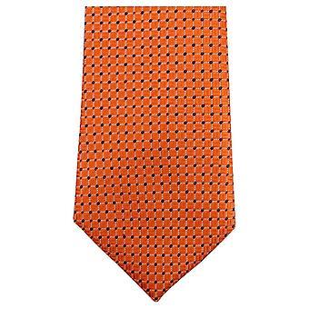 Knightsbridge Neckwear pointillé Tie - Orange/Navy