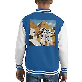 Original Stormtrooper Selfie Pyramids Kid's Varsity Jacket