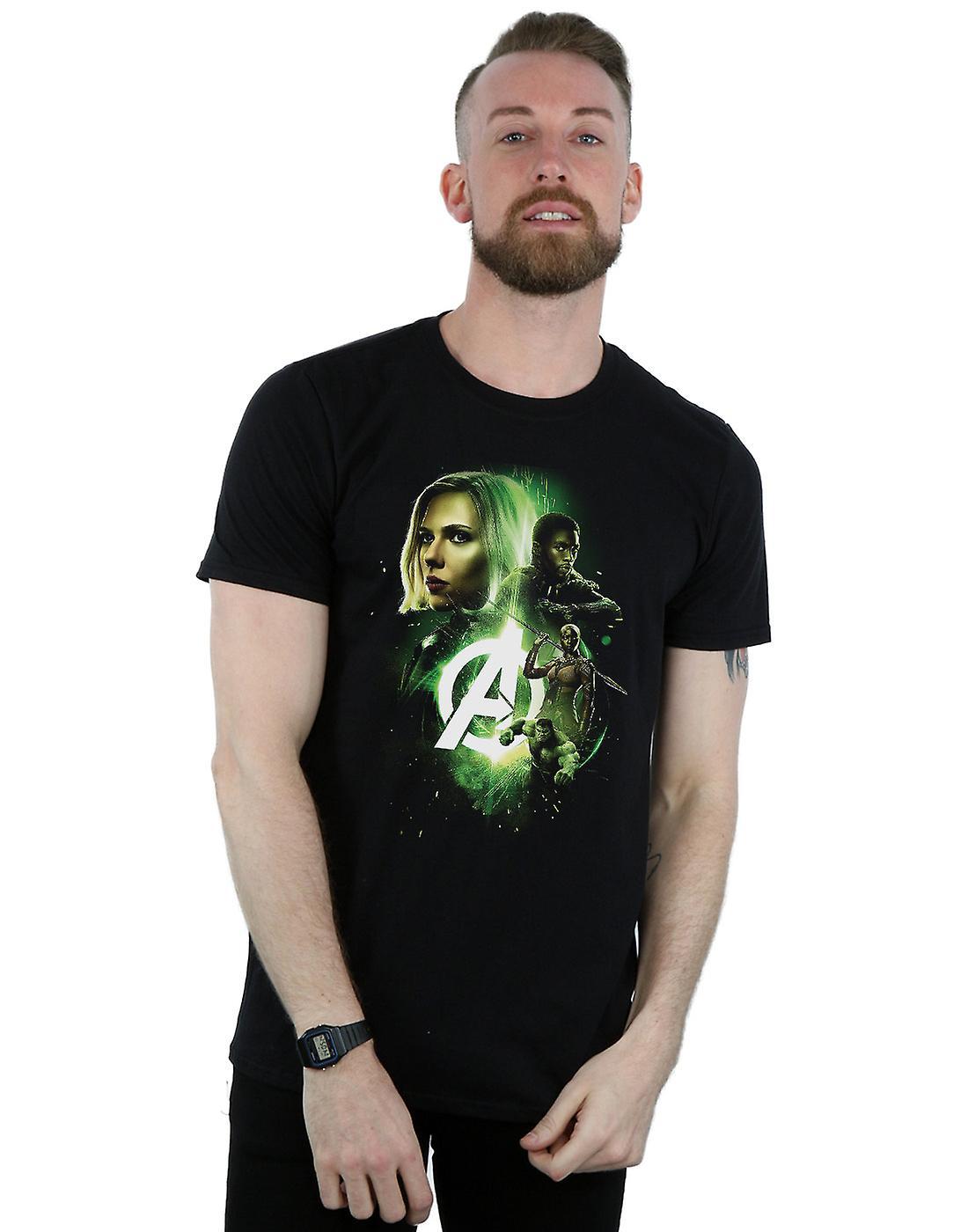 Marvel Men's Avengers Infinity War Widow Panther Team Up T-Shirt