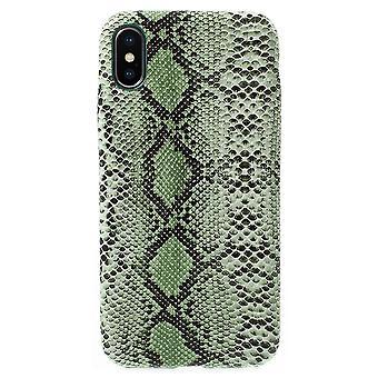 IPhone X shellsnakeskin wzór-zielony