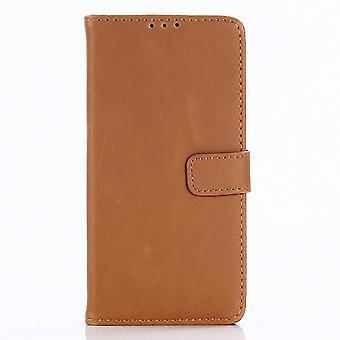 Custodia portafoglio retro di Sony Xperia XA2-Brown