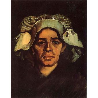 Head of a Peasant Woman with Whit Cap, Vincent Van Gogh