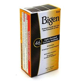 Bigen pysyvä jauhe hiusten väri vaalea kastanja (46)