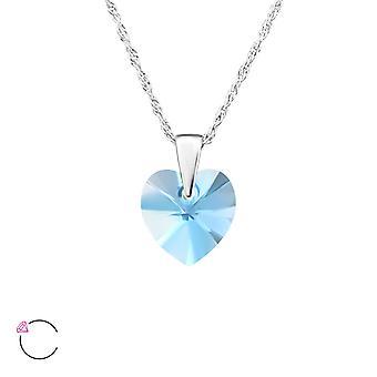Hart van kristal van Swarovski® - 925 Sterling zilveren kettingen - W27743X