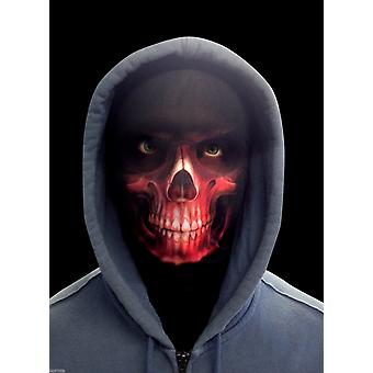 Wild star hearts - grim reaper - red lycra face mask