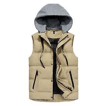 Cloudstyle Men's Padded Vest Removable Hood Sleeveless Jacket