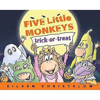 Cinque scimmiette Dolcetto o scherzetto (una storia di cinque scimmiette)