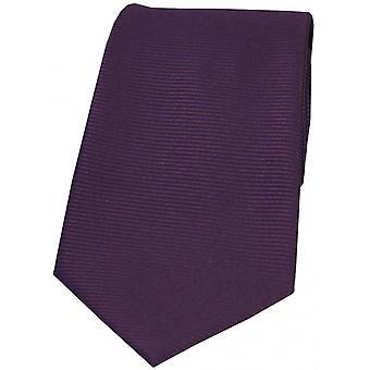 David Van Hagen vaaka Ribbed Polyesteri Tie - violetti