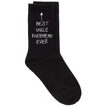 Men's Best Uncle Knobhead Ever Black Calf Socks