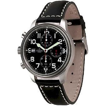 Zeno-relógio mens assistir NC piloto Chrono Lefthander 9557TVD-esquerda-a1