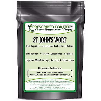 St. John's Wort - 0.3% Hypericin - Natural Leaf & Flower Extract Powder