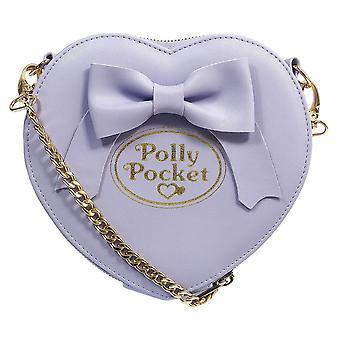 Polly Pocket Heart Shaped Purple Cross Body Bag