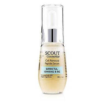 Scout Cosmetics Cell Renewal Peptide Serum With Green Tea Ginseng & Fig - 30ml/1oz