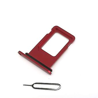 For iPhone XR SIM card holder + Ejectpin-Red