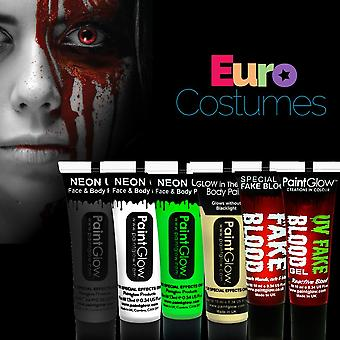 Paintglow Blood & Glow Halloween Make Up Kit Face Paints