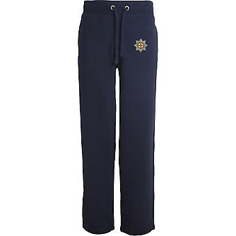 Coldstream Guards - Licensed British Army Embroidered Open Hem Sweatpants / Jogging Bottoms