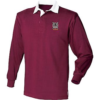 Lowland Band Of The Scottish Veteran - Licensed British Army Embroidered Long Sleeve Rugby Shirt