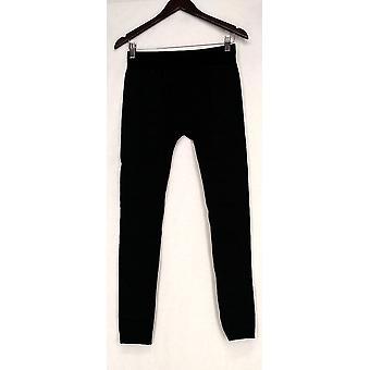 Slim ' N Lift leggings Croco print pull på stretch Strik sort S420345