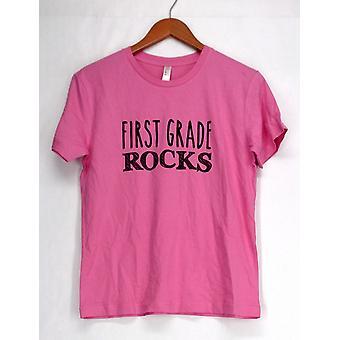 Live & Tell Top Kurzarm T-Shirt Vierten Grade Rockrosa Womens