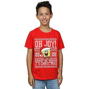 SpongeBob SquarePants Boys Oh Joy! Christmas T-Shirt