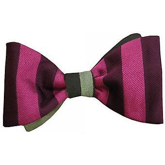 Gene Meyer Reading Bow Tie - Burgundy/Pink