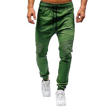 Allthemen mannen ' s katoenen broek verstelbare taille kleine been-open casual broek