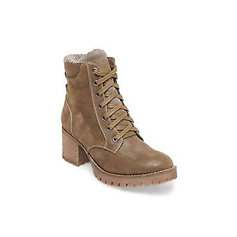 Steve Madden Womens command Suede Round Toe Ankle Combat Boots