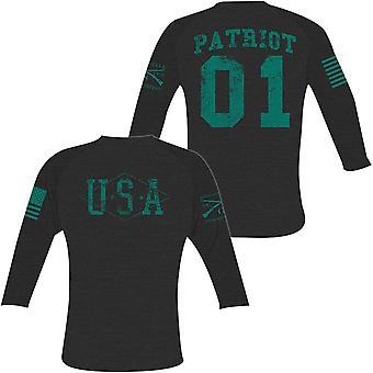 Grunt Style Women's Hero Raglan Long Sleeve T-Shirt - Black/Green