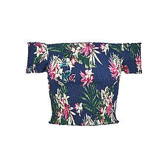 Urban Classics Damen T-Shirt AOP Smoke
