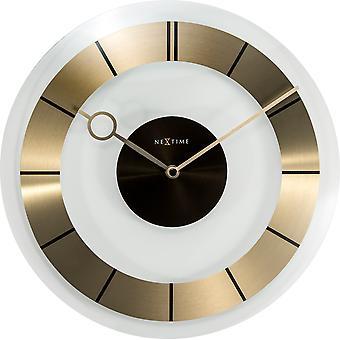 NeXtime - Horloge murale de 31 cm - Verre - Or - Apos;Retro-apos;