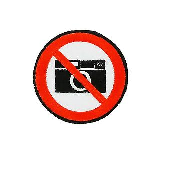 Patch Ecusson Brode Flag Backpack Photo Forbidden No Picture Thermocollant