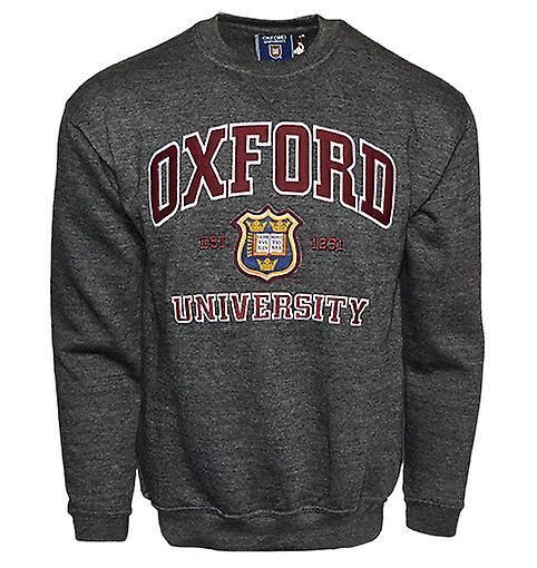 Ou201 unisex licensed oxford university™ sweatshirt charcoal